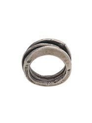 Goti Distressed Ring Silver