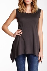 Planet Spa Laser Cut Tank Gray