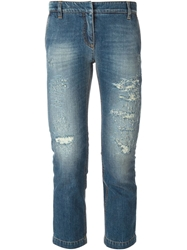 Dolce And Gabbana Cropped Jeans Blue