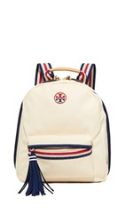 Tory Burch Preppy Canvas Backpack Natural