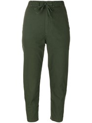 Vince High Waisted Pants Cotton Green