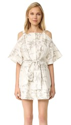 Zimmermann Winsome Shimmer Dress Gold Embroidery