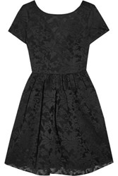 Maje Embroided Tulle Mini Dress Black