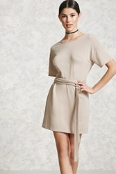 Forever 21 French Terry T Shirt Dress Taupe