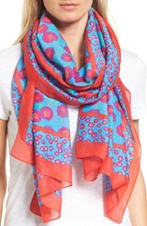 Kate Spade Women's New York Tangier Floral Cotton And Silk Oblong Scarf