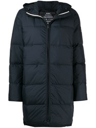 Ecoalf Zipped Padded Coat Blue
