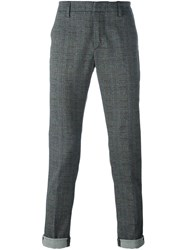 Dondup Glen Check Chinos Grey