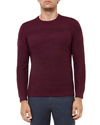 Ted Baker Mixed Stitch Crewneck Sweater Purple