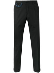 Dolce And Gabbana Embroidered Crown Chinos Black