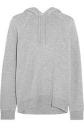 Alexander Wang T By Wool And Cashmere Blend Hooded Top Gray