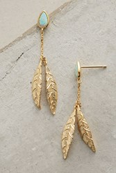 Anthropologie Crested Wing Drops Mint