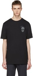 Markus Lupfer Black Logo And Skull T Shirt