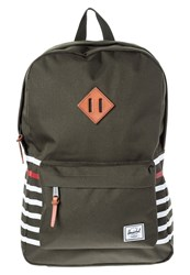 Herschel Heritage Rucksack Forest Night Offset Stripe Dark Green