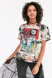 Urban Outfitters Death Tarot Tie Dye Tee Brown