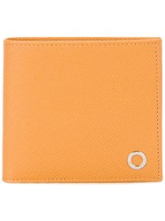 Bulgari Classic Bi Fold Wallet Yellow Orange