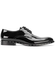 Jimmy Choo Star Studded Lace Up Shoes Black