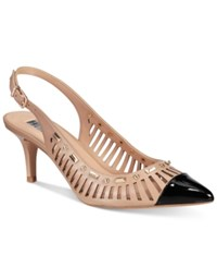 Inc International Concepts Women's Dehany Slingback Pumps Only At Macy's Women's Shoes Dark Almond