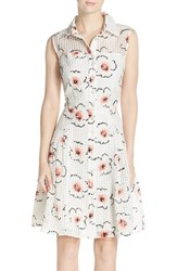 Women's Betsey Johnson Fit And Flare Shirtdress