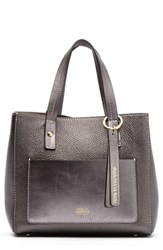 Frances Valentine Small Chloe Leather Tote Grey Pewter