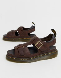 Dr. Martens Dr Hayden Sandals In Dark Brown