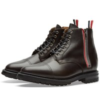 Thom Browne Zip Commando Boot Brown