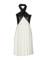 Guess By Marciano Knee Length Dresses White