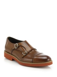 To Boot Double Monk Strap Leather Shoes Light Brown