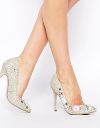 Asos Party On Pointed High Heels Nude
