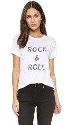 Zadig And Voltaire Walk Lin T Shirt Blanc Charcoal