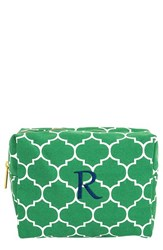 Cathy's Concepts Monogram Cosmetics Case Green R