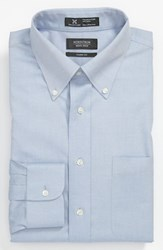 Men's Big And Tall Nordstrom Smartcare Wrinkle Free Classic Fit Pinpoint Dress Shirt Blue