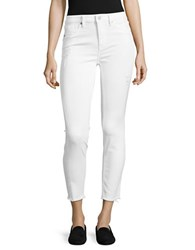 Vigoss Distressed Skinny Chelsea Cropped Jeans White