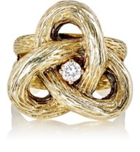 Mahnaz Collection Vintage Women's Knot Ring Gold