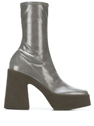 Stella Mccartney Platform Ankle Boots Grey