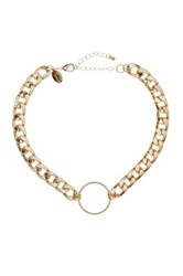 Spring Street Curb Chain O Ring Collar Necklace Metallic