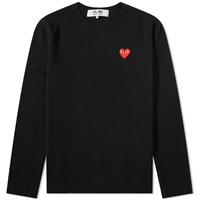 Comme Des Garcons Play Knitted Crew Sweat Black