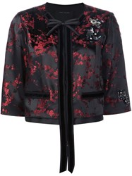 Marc Jacobs Cherry Blossom Cropped Jacket Black