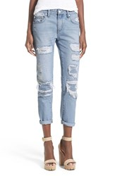 Women's Lovers Friends 'Ezra' Destroyed Slim Boyfriend Jeans Ceres