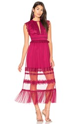 Three Floor Zen Dress Fuchsia