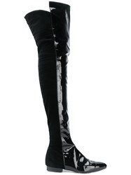 Versace Vintage Over The Knee Boots Black