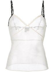Chanel Vintage Spaghetti Strap Tank Top Nude And Neutrals