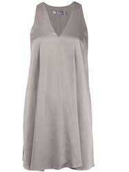Alexander Wang T By Mini Trapeze Dress Nude And Neutrals