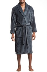 Men's Daniel Buchler Tunnel Pattern Fleece Robe