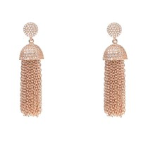 Latelita London Tassel Chain Earring Rose Gold