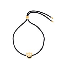 Ruifier 'Friends Wicked' Bracelet Nylon 18Kt Yellow Gold Black