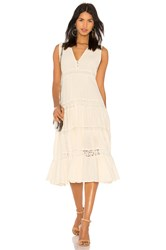 Spell And The Gypsy Collective Doe Eyed Midi Dress Cream