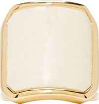 Balmain White Inset Bone Ring
