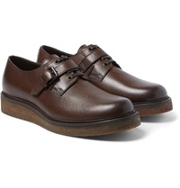 Bottega Veneta Wedge Sole Grained Leather Derby Shoes