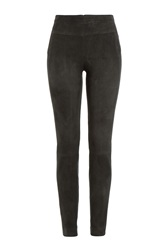 Donna Karan New York Suede Leggings Grey