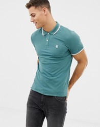 Selected Seleceted Homme Polo With Tipping Pink